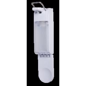 Armhebelspender Blanc UNIVERSAL + Haut- und Händedesinfektion SET, 12 Flaschen à 500 ml