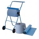 SET: Putzrollenhalter FIX + Qualitäts-Müllsack 120l blau, 250 Beutel SET + 2 Putzrollen blau Blanc-Quality, 2 Rollen, 3-lagig