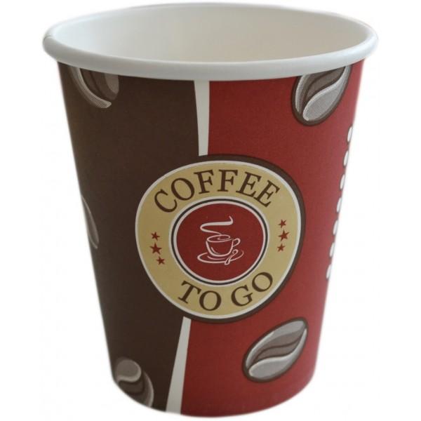 Kaffeebecher, Pappbecher Topline 8oz, Volumen: 0,20 l, Ø 80 mm, 1.000 Stk, Coffee To Go