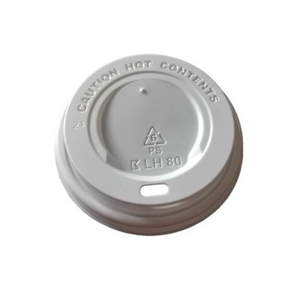 Deckel Weiß für Kaffeebecher für 0,25 l, 0,30 l, 0,40 l, Durchmesser 90 mm, 1.000 Stk