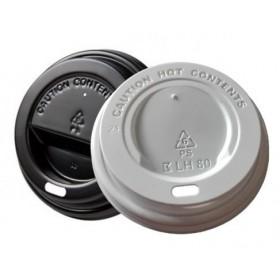 Deckel Weiß oder Schwarz für Kaffeebecher für 0,30 l, 0,40 l, Durchmesser 90 mm, 1.000 Stk
