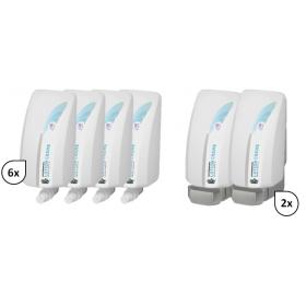 SET: Handreinigungslotion 6x 1-Liter, 6.000 Anwendungen + 2x Lavela Spender - PRODUKTSET