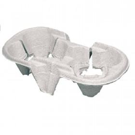 Becherhalter, kompostierbare Chinet-Transporthilfe für 2 Becher, Einweg, 21 x 11 x 4 cm, 360 Stk