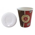 Set: Kaffeebecher Topline 8oz, Volumen: 0,20 l, 1.000 Stk + passende Deckel 1.000 Stk