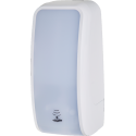 SET: Desinfektionsspender SENSOR Cosmos Blanc + Bodenständer Edelstahl + 6x 1-Liter Hautdesinfektion