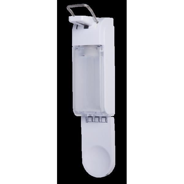 SET: Armhebelspender Blanc UNIVERSAL & Corpusan Haut- und Händedesinfektion SET, 12 Flaschen à 500 ml