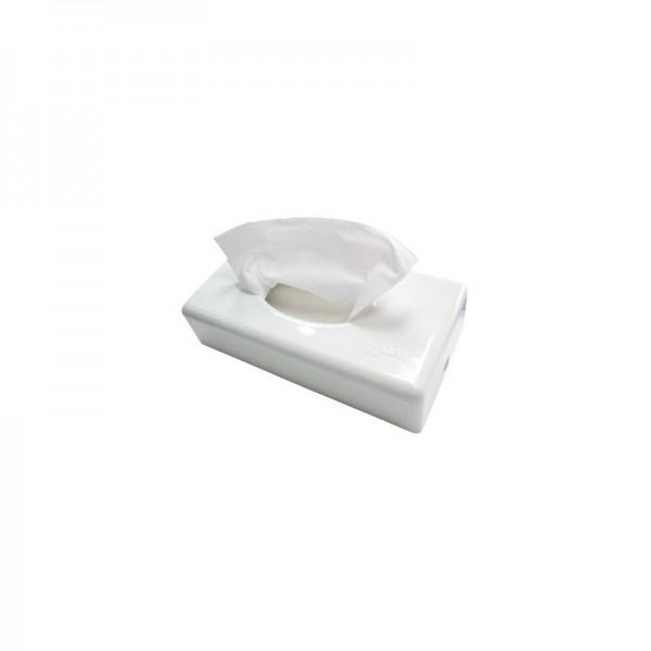 SET: Kosmetiktuchspender FUTURA weiß + 4.000 Kosmetiktücher Premium Softskin, 100% Zellstoff, weich, saugstark, reißfest