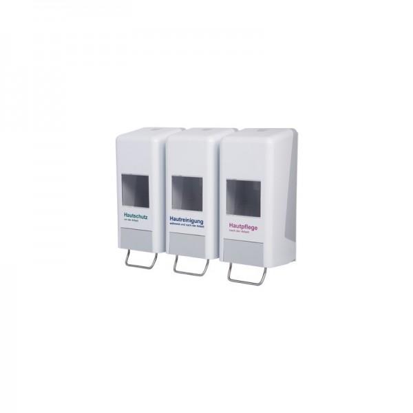 *SALE* Tri-Spender, Softflaschenspender (Vakuumflaschen) für alle gängigen Softflaschen,  für 1.000 ml & 2.000 ml Softflaschen