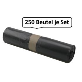 Qualitäts-Müllsack 120 Liter, schwarz, 38my, 250 Beutel je SET