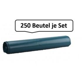 Qualitäts-Müllsack 120 Liter, blau, 39my, extra reißfest, 250 Beutel je SET