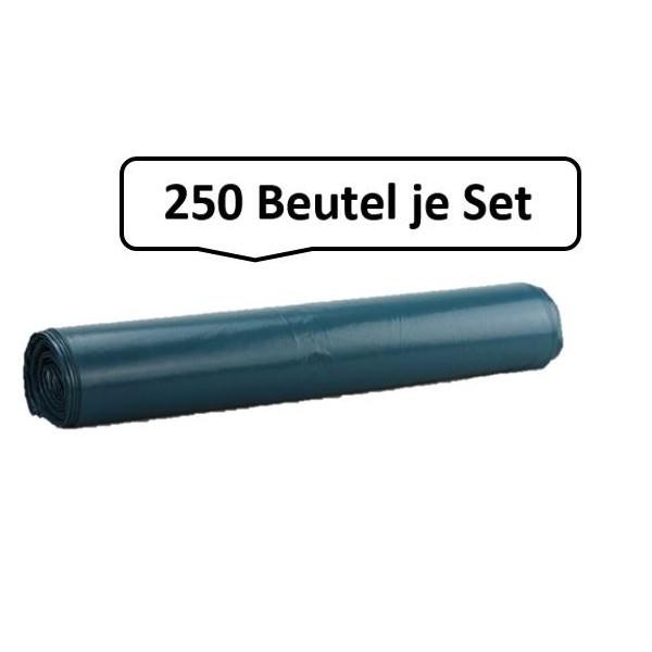 Qualitäts-Müllbeutel 130 Liter, blau, 40my, 250 Beutel je SET