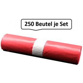 Qualitäts-Müllsack 120 Liter, rot, 38my, 250 Beutel je SET