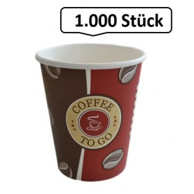 Kaffeebecher, Pappbecher Topline 8oz, Volumen: 0,20 l, Ø 80 mm, 1.000 Stk, Coffee To Go