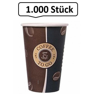 Kaffeebecher Slim, Pappbecher Topline 12oz, Volumen: 0,30 l, Ø 80 mm, 1.000 Stk, Coffee To Go