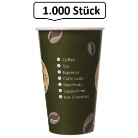 Kaffeebecher, Pappbecher Topline 16oz, Volumen: 0,40 l, Ø 90 mm, 1.000 Stk, Coffee To Go