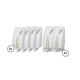 SET: Flächen- & WC-Sitzreiniger 6x 1-Liter, 12.000 Anwendungen + 2x Lavela Spender - PRODUKTSET