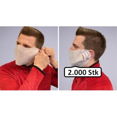 MUND- UND NASENMASKE 2.000 Stk weiß Einwegmaske aus Ökotex-zertifiziertem Vlies