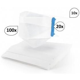 Mundschutz MULTI-KIT 100 Stk, Mund- und Nasenmaske Einwegmaske mit tropfenabweisendem Vlies