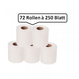 72 Toilettenpapier Toilettenpapierrollen SET, Rolle je 30m, 3-lagig, weiß, WEPA comfort-Qualität, 18.000 Blatt, 9,8x12cm