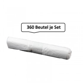 Müllbeutel, 360 Qualitäts-Müllbeutel 60 Liter, weiß, 7,5my, 360 Beutel