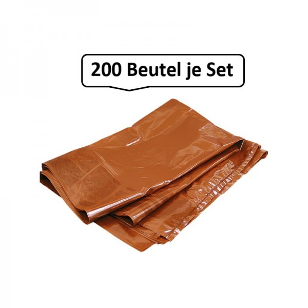 Qualitäts-Müllbeutel 240 Liter, braun, 45my, 200 Beutel je SET