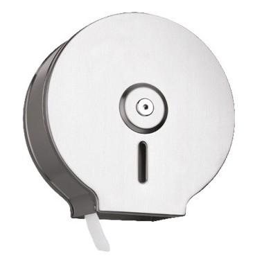 Jumbo-Toilettenpapierspender INOX Midi, Edelstahl gebürstet, Kapazität: Ø max. 220 mm je Rolle
