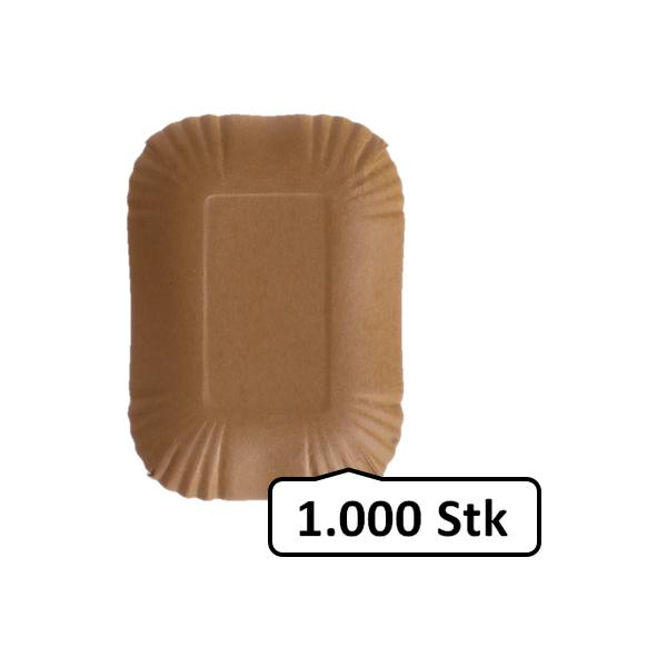 Pappschalen klein 1.000 Stk, to go, take away, biologisch abbaubar, nachhaltig, kunststofffrei