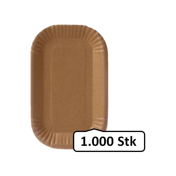Pappschalen groß 1.000 Stk, to go, take away, biologisch abbaubar, nachhaltig, kunststofffrei