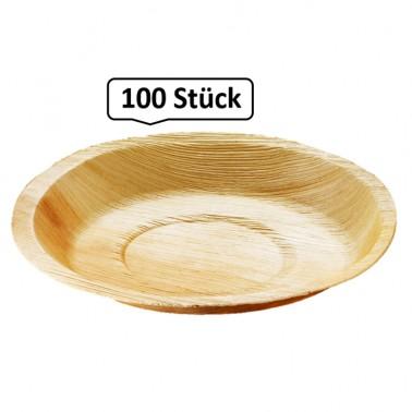 Teller rund, Palmblattgeschirr, 100 Stk, biologisch abbaubar, umweltfreundlich, Durchmesser 24 cm