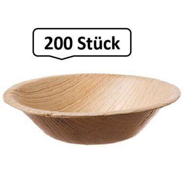 Terrine rund, Palmblattgeschirr, 200 Stk, biologisch abbaubar, umweltfreundlich, Durchmesser 12,5cm