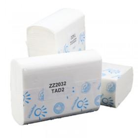 Falthandtuchpapier, Handtuchpapier, Premium-TAD SET, Interfold ZICK ZACK, 2-lagig, 2.000 Tücher je SET
