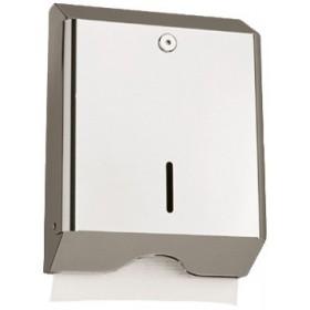 Falthandtuchspender INOX Z600, Edelstahl, robust, abschließbar, Kapazität: 600 Faltpapiere