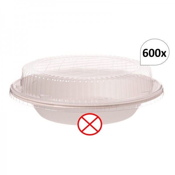 Deckel 600 Stück für Bagasse Salatboxen Salatschalen G3, recycelbar, umweltfreundlich