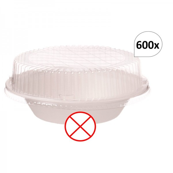 Deckel 600 Stück für Bagasse Salatboxen Salatschalen G2, recycelbar, umweltfreundlich