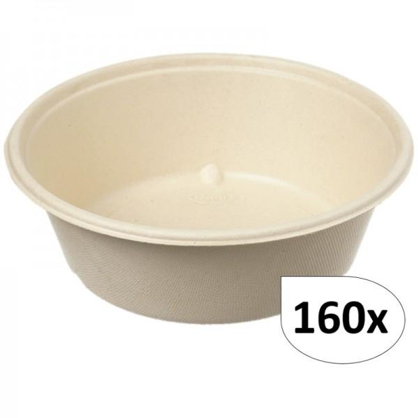 Salatboxen Salatschalen FIX 1200ml aus Bagasse 160 Stück, to go, take away, biologisch abbaubar, umweltfreundlich
