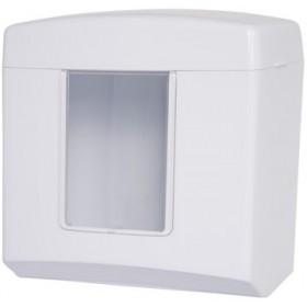 Falthandtuchspender Midi, weiß, Kapazität: 500 Faltpapiere