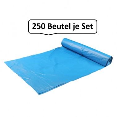 Qualitäts-Müllbeutel 140 Liter, blau, 40my, 250 Beutel je SET
