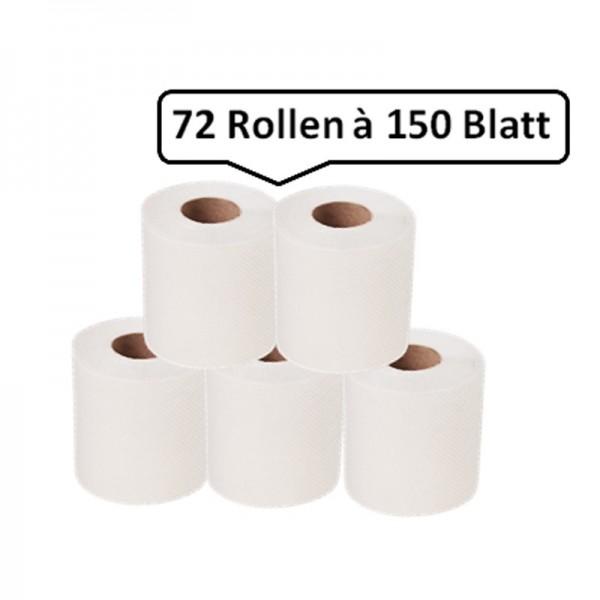 Toilettenpapier, 72 Haushaltsrollen, 4-lagig, weiß, Zellstoff, wasserlöslich, WEPA-prestige supersoft, 10.800 Blatt, 9,5x13cm