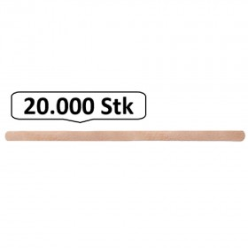 Rührstäbchen aus Holz Einwegbesteck, 20.000 Stk, natur, biologisch abbaubar, 11 cm