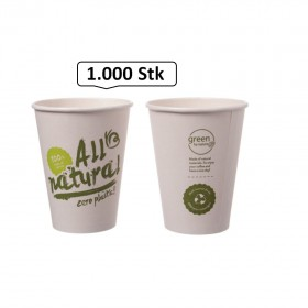 Bio-Kaffeebecher Singlewall 8oz, 0,20 l, Ø 80 mm, 1.000 Stk, All natural, kompostierbar