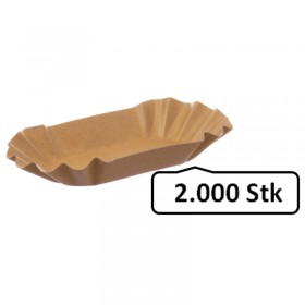 Pappschalen Pommesschalen medium 2.000 Stk, to go, take away, biologisch abbaubar, nachhaltig, kunststofffrei
