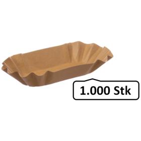 Pappschalen Pommesschalen groß 1.000 Stk, to go, take away, biologisch abbaubar, nachhaltig, kunststofffrei