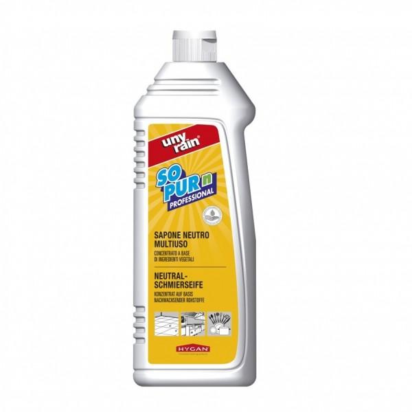 Neutrale Schmierseife, Hochkonzentrat 24 x 1 Liter Flasche, zur Reinigung und Entfettung von Geschirr, Oberflächen