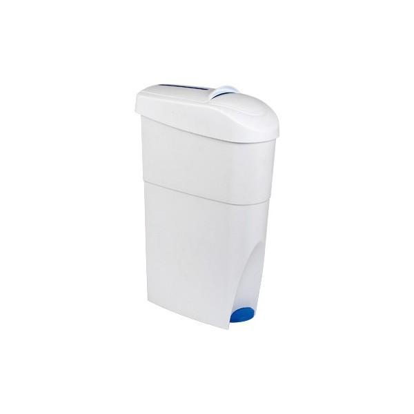 Damenhygiene-Behälter geschlossen mit Fußpedal zum einfachen öffnen - für sanitäre Abfälle, Damenbinden, Tampons etc.