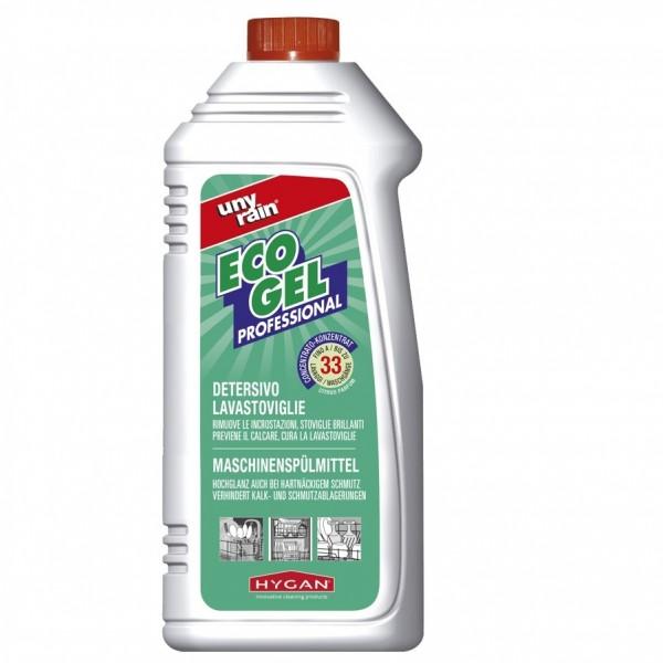 Gläser- und Geschirrspülmittelgel für Spülmaschinen 24 x 500 ml Flaschen, sehr ergiebig, phosphat- und chlorfrei