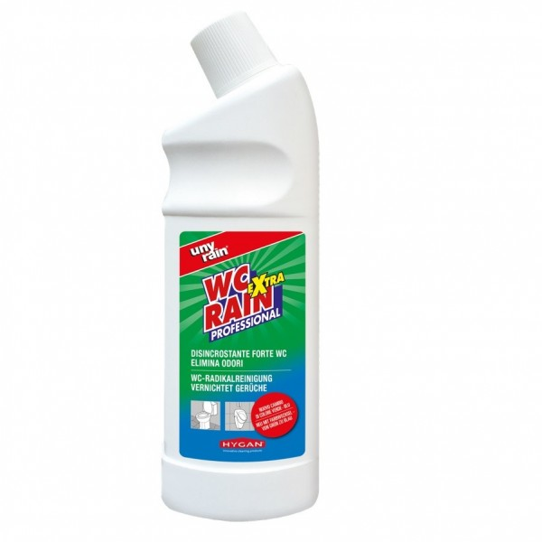 Gelförmige, saure Radikalreinigung, 24 x 750 ml Flasche, für WCs und Sanitäreinrichtungen, sehr ergiebig, extra stark