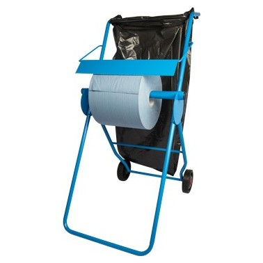 Putzrollenhalter FIX, mit Abfallsackhalterung, für Putzrollen bis 40 cm Breite
