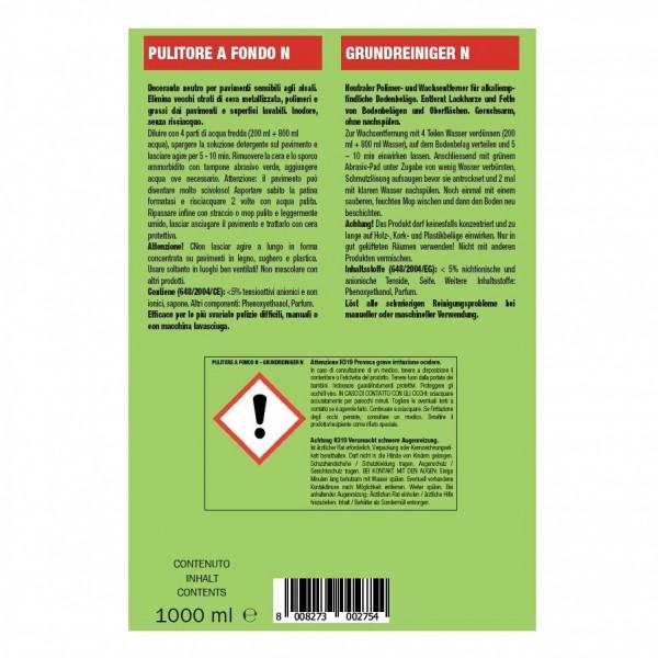 Hochkonzentrierter materialschonender Reiniger 24 x 1 Liter Flaschen, pH-mild, geeignet für alle Bodenbeläge