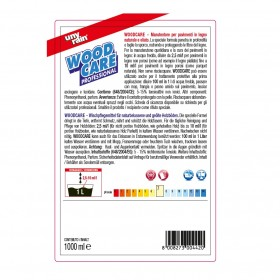 Profi-Wischpflegemittel für Holz- und Laminatböden 24 x 1 Liter Flaschen, reinigt porentief, rutsch- und trittfest, Konzentrat