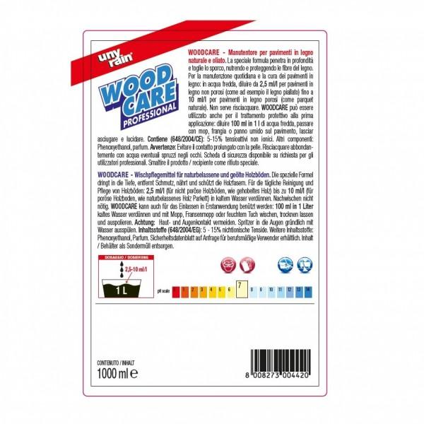 Wischpflegemittel für Holz- und Laminatböden 24 x 1 Liter Flaschen, reinigt porentief, Konzentrat